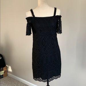 White House Black Market black crochet dress